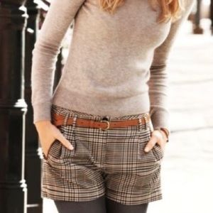 Awesome Abercrombie Plaid Cuffed Shorts